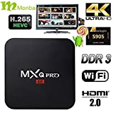 [2016 new] Monba M-BOX PRO TV BOX fully loaded Kodi XBMC Newest CPU Amlogic S905 Quad Core 1GB/8GB Wifi LAN 4k blu ray player Streaming Media Player