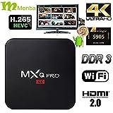[2016 new] Monba M-BOX PRO TV BOX fully loaded Kodi XBMC Newest CPU Amlogic S905 Quad Core 1GB/8GB Wifi LAN 4k blu ray player Streaming Media Player