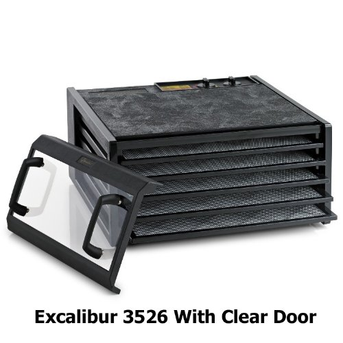 Excalibur 3526Tcdb 5 Tray Dehydrator With Clear Door And Timer front-227543