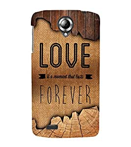 Love Forever 3D Hard Polycarbonate Designer Back Case Cover for Lenovo S820