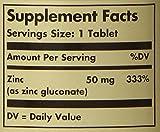 Solgar Zinc Tablets, 50 mg, 100 Count