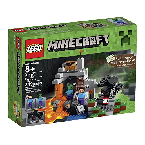 Lego-21113-The-Cave-Playset-with-Minecraft-Hostile-Mobs