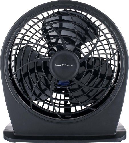 New Windstream 6 Inch Personal Fan, Great For Pushing Warm Hot Air Away From Electronics, Efficient Low Energy 18 Watt Motor