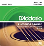 D'Addario EJ18 Phosphor Bronze Acoustic Guitar Strings, Heavy, 14-59 thumbnail