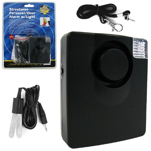 130 dB Personal and Door Alarm with Flashing Light