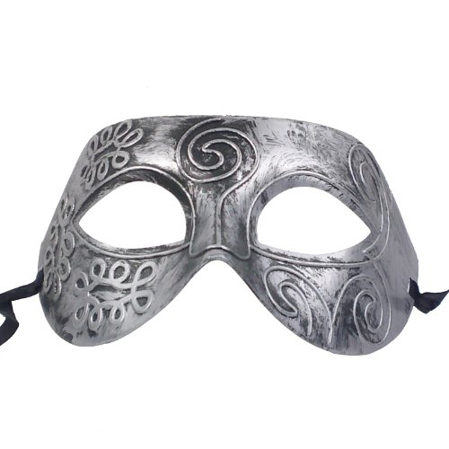 NATI Men's Venetian Mask Color Antiqued Gray
