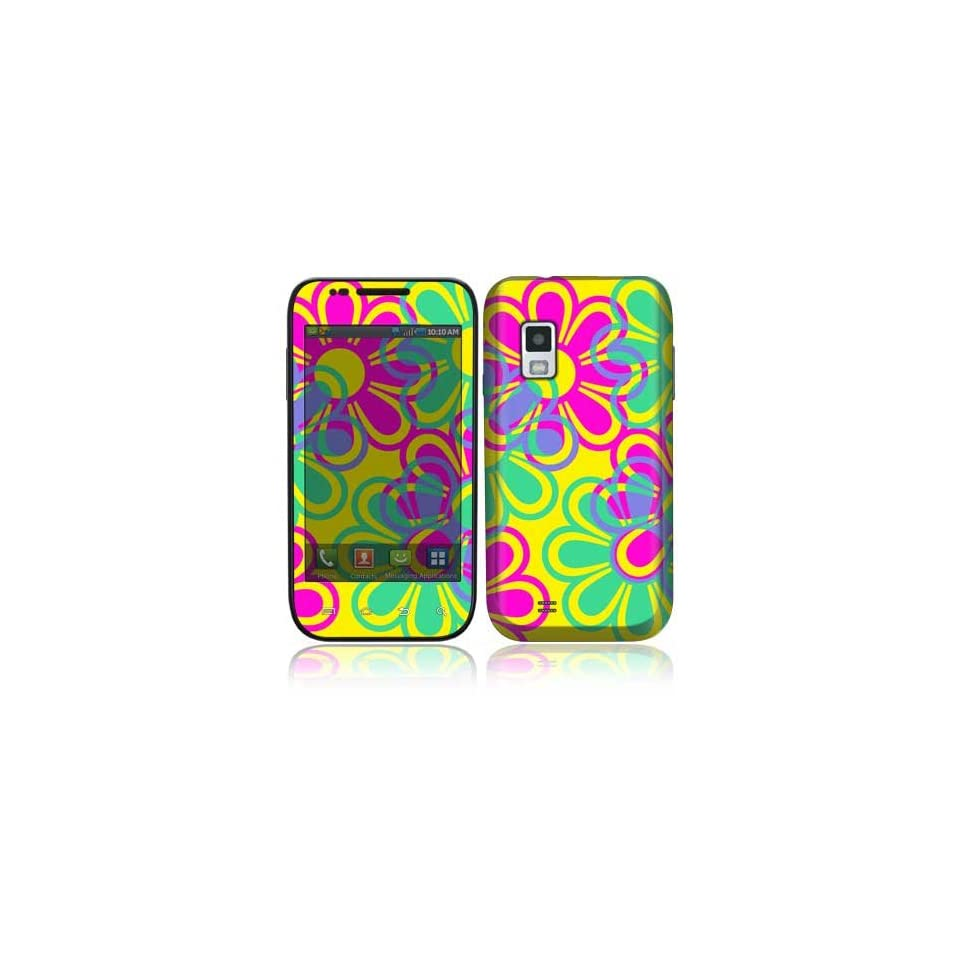 Retro Flowers Decorative Skin Cover Decal Sticker for Samsung Fascinate SCH i500 Cell Phone