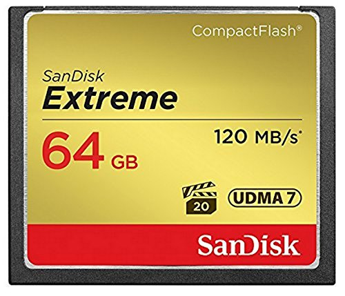 SanDisk Extreme 64GB CompactFlash Memory Card (SDCFXSB-064G-G46) (64gb Sandisk Cf compare prices)