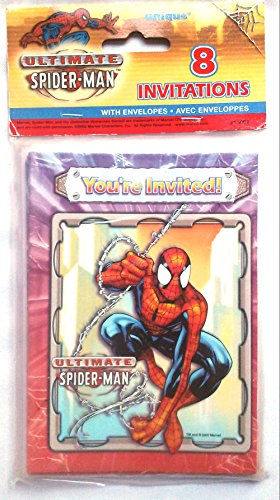 Ultimate Spiderman Invitations