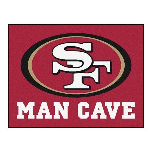 FANMATS 14364 NFL San Francisco 49ers Nylon Universal Man Cave All-Star Mat at Amazon.com