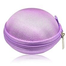 buy Earphone Headset Earbuds Hard Hold Case (Purple)