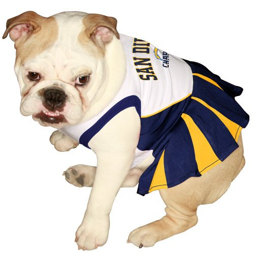 Pets First NFL San Diego Charges Dog Cheerleader Dress, Small at Amazon.com