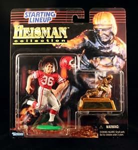 STEVE OWENS / UNIVERSITY OF OKLAHOMA SOONERS * 1997 NCAA College Football HEISMAN COLLECTION Starting Lineup Action Figure, Football Helmet & Miniature 1969 Heisman Memorial Trophy