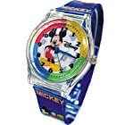 DISNEY WATCH FOR YOUTH MICKEY MOUSE IN PEN/GLASSES CASE.LARGE TABLE. BAND 9.FREE & FAST US SHIPPING.