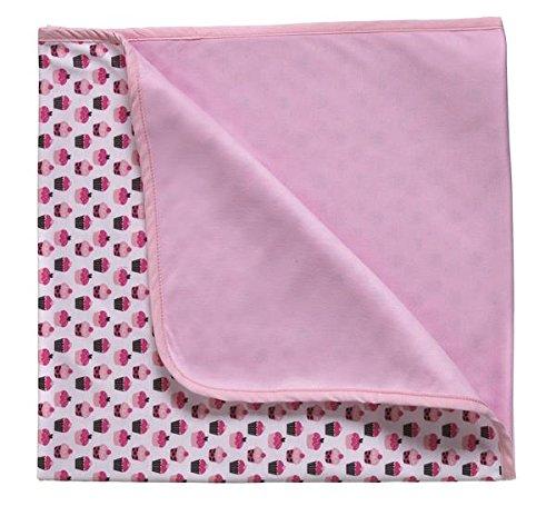 Ooh La La Baby Girl 100% Cotton Blanket (Cupcake)