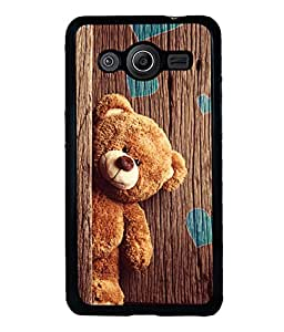 printtech Teddy Wooden Hearts Back Case Cover for Samsung Galaxy Core 2 G355H