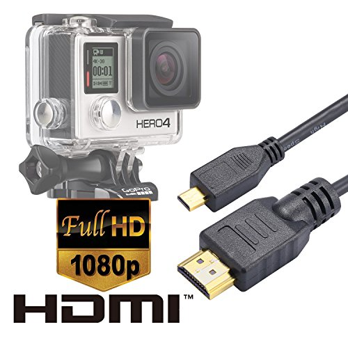 Luxebell High Speed HDMI HD Video Cable for Gopro Hero 4 Black Silver 3+ 3 and Sjcam Sj4000 Sj5000 – 5feet/1.5m