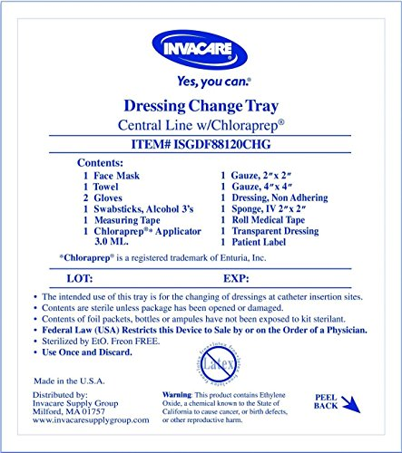 Central Line Dressing Change Kit With Chloraprep Each (Central Line Dressing Kit compare prices)