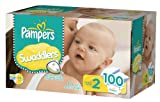 Pampers Swaddlers, Size 2(12-18 Lbs.),100 Count.
