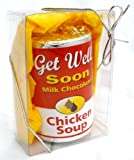 "Get Well Soon Gourmet Solid Milk Chocolate ""Chicken Soup"" Can Gift For Chocolate Lovers - Children & Adults"