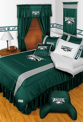 NFL Philadelphia Eagles Queen Bedding Set 5 Pc Comforter and Sheets at Amazon.com