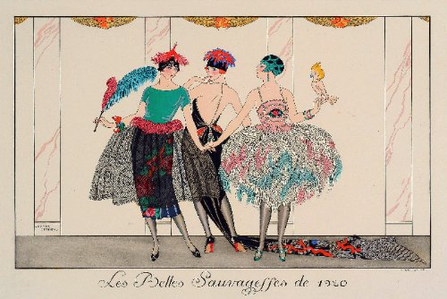 """8x11"""" Inches Poster.""""Les Belles 1920"""". Decor with Unusual images. Great Room art Decoration"""