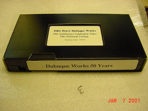 Vhs Tape Video Of The John Deere Dubuque Works 50Th Anniversary Celebration Video Plus Histprical Footage. 1 Hour And 9 Minutes.