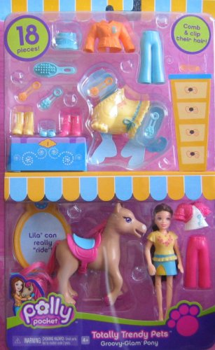 Buy Low Price Mattel Polly Pocket Groovy Glam Pony with Lila – Totally Trendy Pets (2006) Figure (B0019F7C9C)