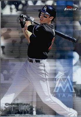 2016 Finest #93 Christian Yelich Miami Marlins Baseball Card