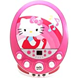 Sakar Hello Kitty Cd+g Karaoke Machine with Lights - Pink - Karaoke CDG Players - Childrens Gadget - Portable - Displays Song Lyrics on Your Television Screen - Enhanced Vocal Effects with Echo