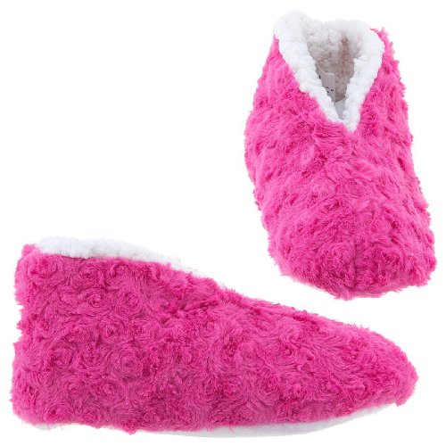 Cheap GMI Snuggle Feet Dark Pink Slippers for Women (B009TH1ZEA)