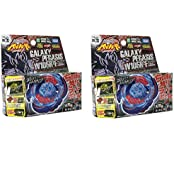 Set Of 2 Beyblades #Bb70 Japanese Metal Fusion W105 R2 F Galaxy Pegasis Battle Top Starter Set. (Galaxy Pegasus...