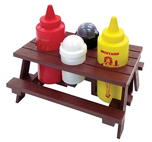 Best Review Of Mr. Bar-B-Q, Inc. 40197X Picnic Table Condiment Set