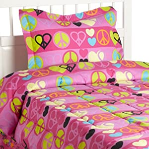 Beatrice Home Fashions Pink Cookie Peace Out Comforter Set at Sears.com