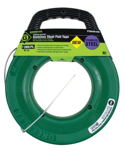 Greenlee ftss438 200 stainless steel fish tape 200 feet x for Greenlee fish tape