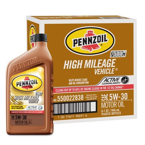 Pennzoil 550022838-PK6 5W-30 High Mileage Vehicle Motor ...
