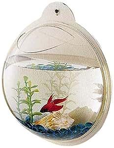 Kaze home wall mount fishbowl fish bowls for Fish bowl amazon