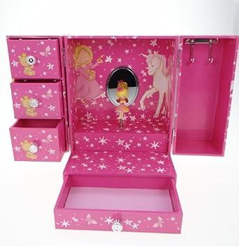 Mele & Co Pink Tia Childrens Musical Jewellery Box