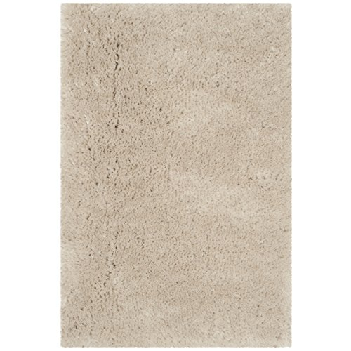 Safavieh Arctic Shag Collection SG270V Handmade Beige Shag Area Rug, 2 feet 6 inches by 4 feet (2'6