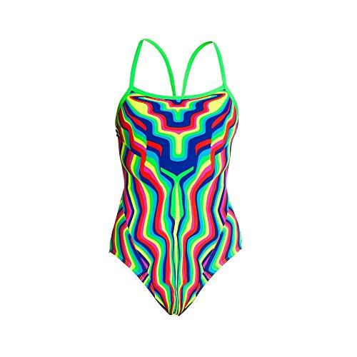 Womens Warrior Funkita Single Strap taglia 12 - Stripe Multicolore Multicolore 40