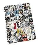 NewsPaper Imprimer cahiers spiralés Journal Cahiers Jotter Diary cadeau pour elle...