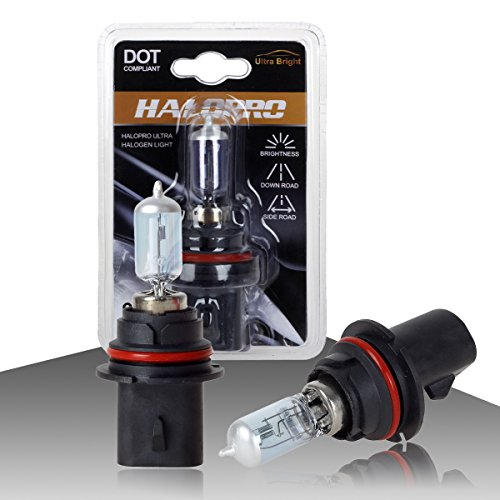 HaloPro High Performance 2pcs 9007 HB5 12V 65/55W Headlight High&Low Beam Halogen Bulb 7000-8000K Night White For Nissan / Dodge / Ford (Ford Thunderbird Headlights compare prices)