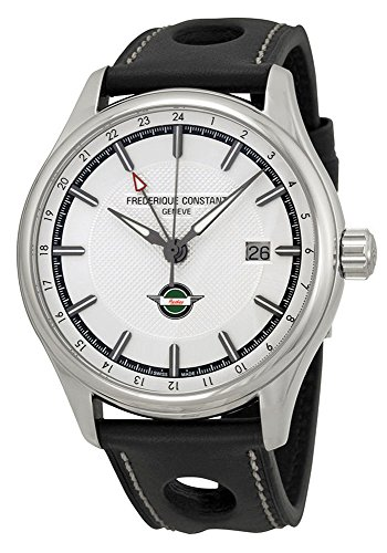 Limited Edition Frederique Constant Vintage Rally Healey GMT Automatic Steel Mens Watch FC-350HS5B6