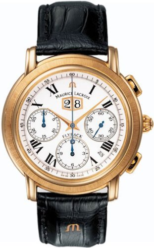 Maurice Lacroix Masterpiece Flyback Annuaire 18k Rose Gold Mens Watch mp6108-pg101-19e