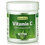 Vitamin C, 250 Gramm Pulver, vegan - für starke Abwehrkräfte, gesunde Zähne und Zahnfleisch,...