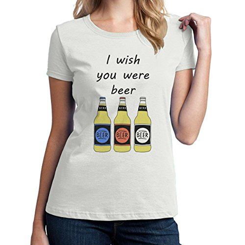 I Wish You Were Beer Medium Donne T-Shirt