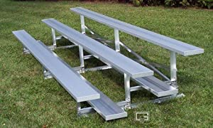 15 Fixed Stationary Bleachers With Double Foot Planks 3 Row from Gared Sports