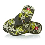 Quiksilver Quilted Cush Flip Flops - Green/ Grey/ Green