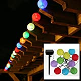 TLT Solar Powered 10 LED Mini Oriental Style Lantern String Lights (Multicolor), Great for Patio, Lawn, Pathway, Garden LED009