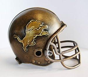 NFL Detroit Lions Desktop Helmet Statue by Wild Sports